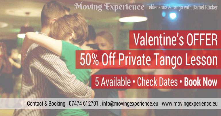 Valentine's Offer 50% Off Private Tango Lessons