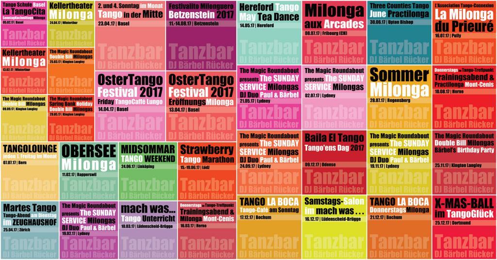 Tango DJ Bärbel Rücker - Sets in 2017