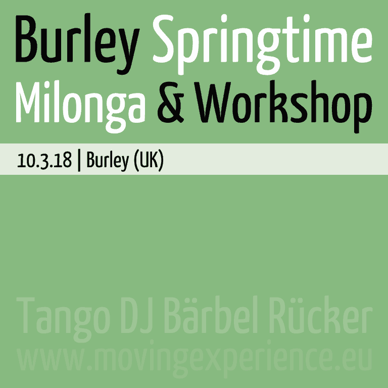 Burley Springtime Milonga & Workshop [10/03/2018]