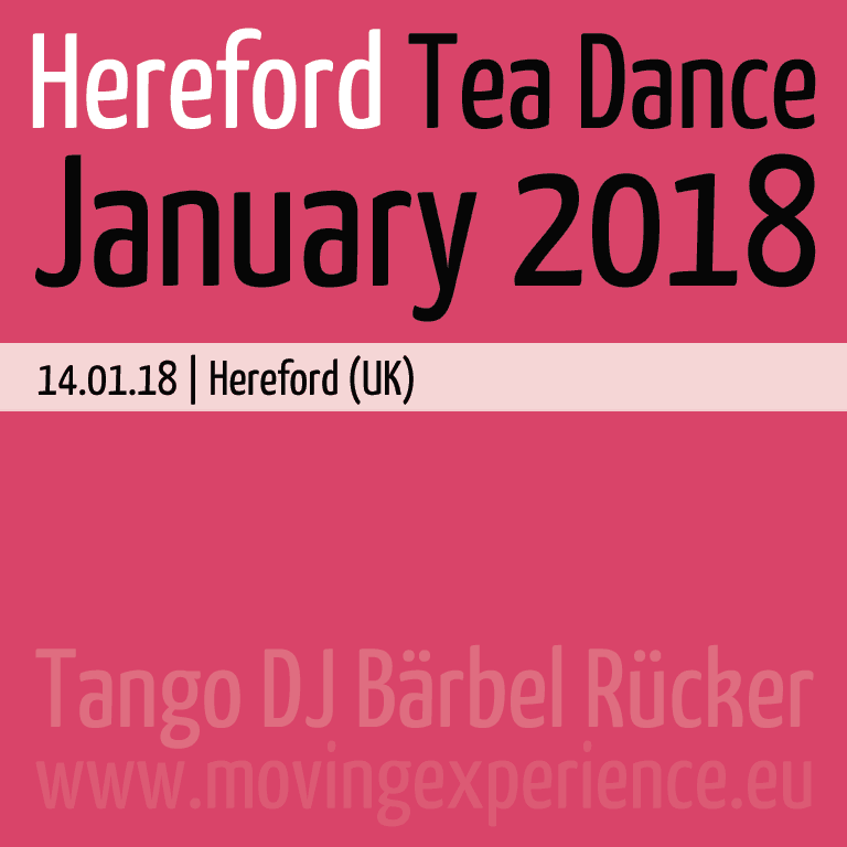January 2018, Hereford Tea Dance with Tango DJ Bärbel Rücker
