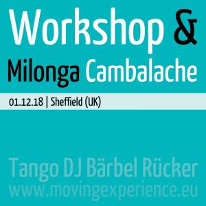 Workshop & Milonga Cambalache with DJ Bärbel
