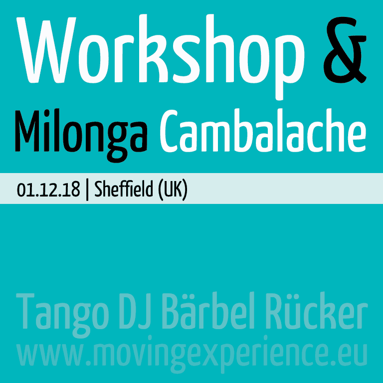 Workshop & Milonga Cambalache with DJ Bärbel