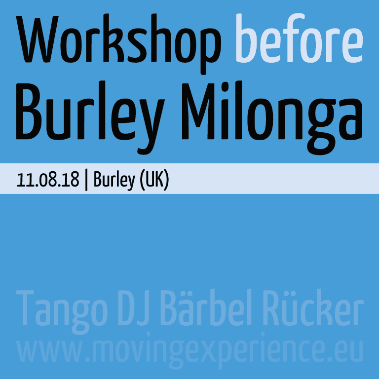 Burley Milonga & Workshop