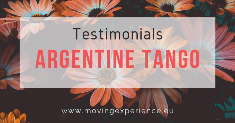 Testimonials Argentine Tango with Bärbel