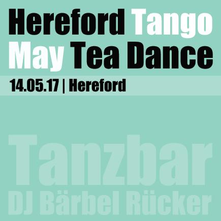 May 2017, Hereford Tea Dance with Tango DJ Bärbel Rücker