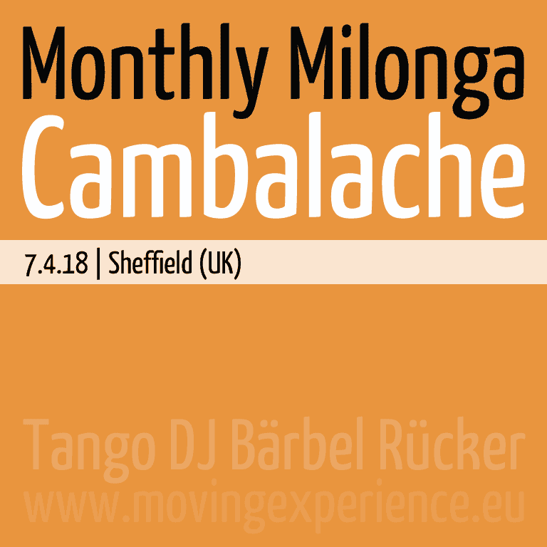 Bärbel & Felipe at Cambalache, Milonga with DJ Bärbel