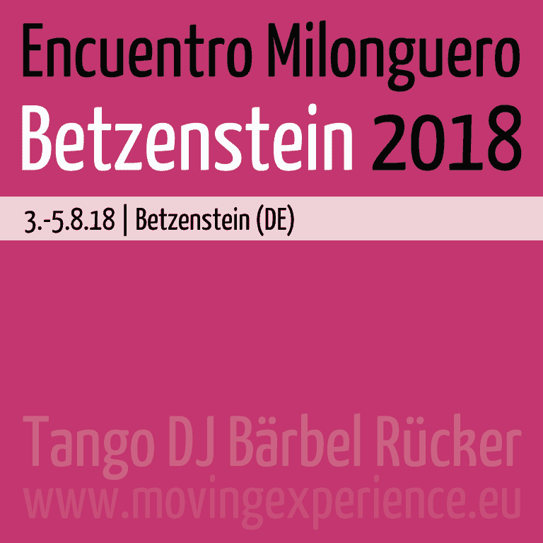 Encuentro Milonguero Betzenstein 2018