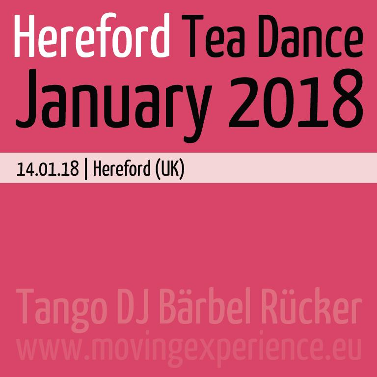 January 2018, Hereford Tea Dance with Tango DJ Bärbel Rücker