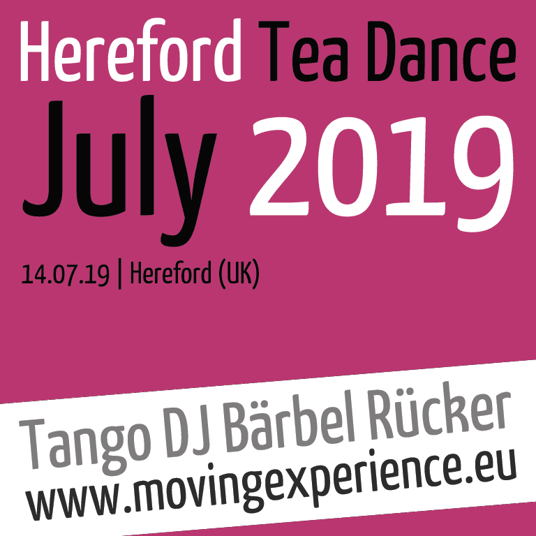 July 2019, Hereford Tea Dance with Tango DJ Bärbel Rücker